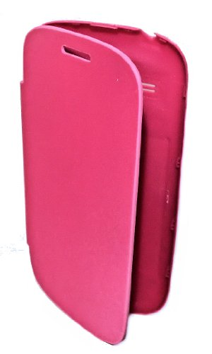 Back Cover - Akku Deckel - Book Style in Pink für Samsung i-8190 Galaxy S3 Mini - Cover Case Hülle