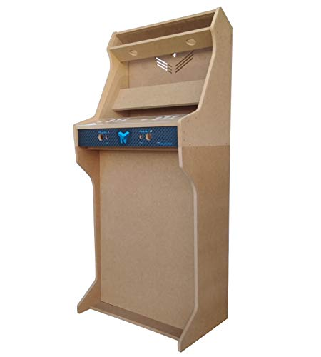 """TALENTEC Kit Mueble recreativa + Pedestal 24"""" en Madera DM + metacrilato acrílico para máquina recreativa Arcade DIY. Orificios de 30 mm para joysticks y Botones."""