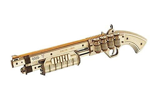 Rubber Band Gun, 3D-Puzzles aus Holz Model Kit sichere und umweltfreundlichem Holz-Bausatz, Shotgun