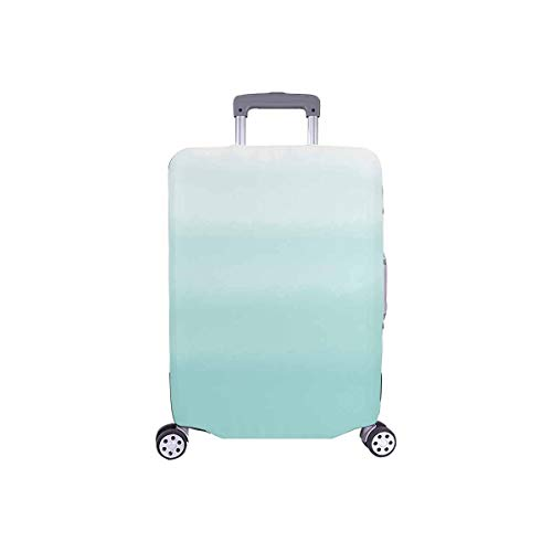 InterestPrint Abstract Turquoise Green Ombre Gradient Travel Luggage Cover Suitcase Baggage Protector Fit 18'-21' Suitcase