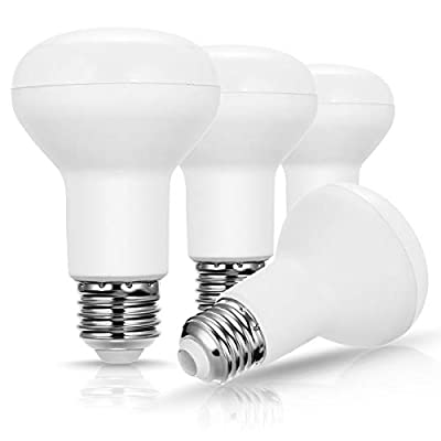 BR20 LED Bulb Dimmable, JandCase 7W Flood Light, 50W Equivalent, 5000K Daylight White, 500lm, Indoor/Outdoor Track Lighting, Ceiling Recessed Light for Home, Office, E26 Base, 4 Pack
