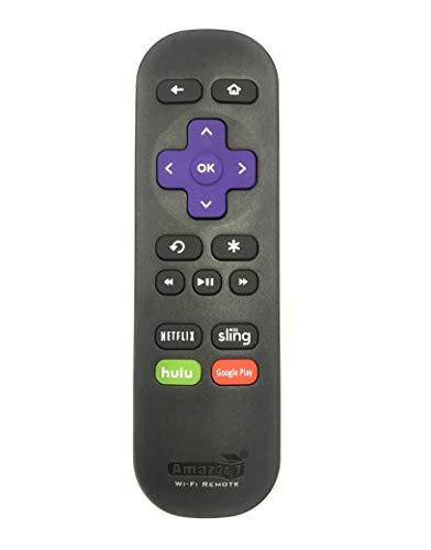 Amaz247 Wi-Fi Remote for Roku Streaming Stick (3500r, 3500rw, 3600, 3800, 3810), Roku 3 (4200r), Roku 2 (2720r),Roku Ultra, Roku Premiere, Roku Express (3900X), Roku Express+