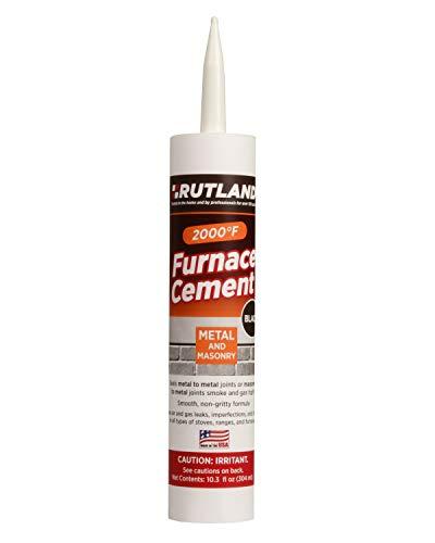 Rutland Products Black, 10.3 fl oz Cartridge Furnace Cement