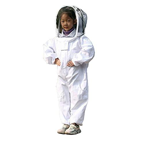 RXYNLL Imkerei Anzug Kinder Imkeranzug mit Schleier Anti-Biene Overall Imker Kostüm für Bienenzüchter
