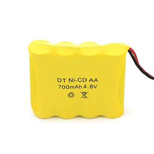 ndegdgswg Grupo De Batería del CD AA del Ni De 4.8v 700mah, Recargable para Las Barredoras del Aspirador 4pcs