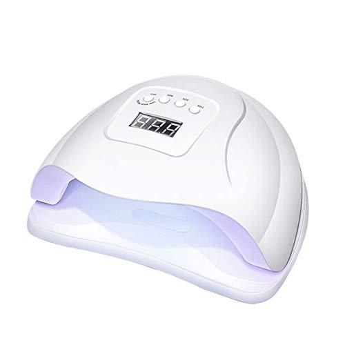 CYYMY Lámpara LED Uñas Secador de Uñas Semipermanente UV LED para Manicura Shellac y Gel Sensor Automático 4 Temporizadores Base Extraíble,Blanco