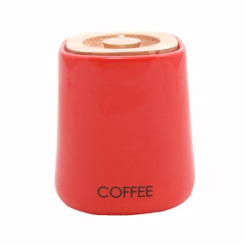 Price & Kensington - Barattolo per caffè in Ceramica, di Forma cubica, Colore: Rosso