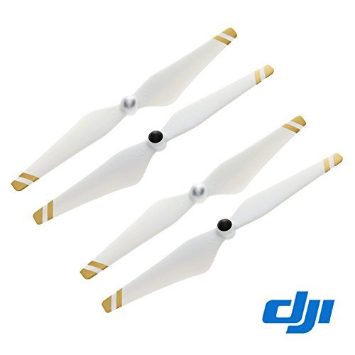 2 Pairs Genuine DJI 9450 Self-tightening Propellers for Phantom 3 Pro, Adv (Gold Stripes)