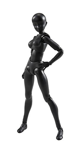 Bandai Tamashii Nations S.H.Figuarts Body-Chan (Woman) (Solid Black Color Ver.) Mujer Color negro Figurine