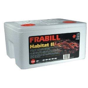 Frabill Habitat II Foam Worm Box with Super-Gro Bedding by Frabill