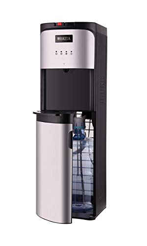 BRITA Stainless-Steel Water Cooler with built-in BRITA Filter NEVER BUY PLASTIC BOTTLES OF WATER AGAIN refill empty jug at any faucet Stainless-steel internal tubing and water tanks, Energy Star