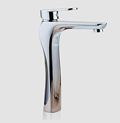 Grifo de Cocina, Productos de baño de un solo grifo grifo de lavabo de agua fría y caliente con acabado cromado