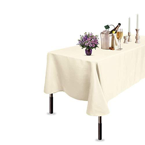 Trimming Shop Rechteckig Leinen Tischdecke für Heim, Büro, Bankett, Restaurants, ESS, Tischdekoration, Polyester Nahtlos, 70 x 144 Inch - Beige, 178cm x 366cm