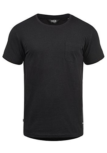 !Solid Bob Herren T-Shirt Kurzarm Shirt Mit Rundhalsausschnitt, Größe:L, Farbe:Black (9000)