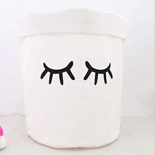 JameStyle26 Panier à linge pliable Cartoon Box Boîte de rangement pour chambre d'enfant, salon, salle de bain, ourson Panier seau à jouets en toile (50 x 60 cm (H x B, Yeux)