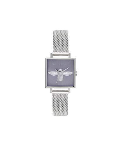Olivia Burton Damen Analog Japanisch Quarz Uhr mit Edelstahl Armband OB16AM136