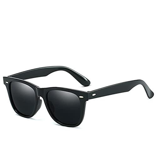 UKKD Gafas De Sol Moda Antirreflectiva Gafas De Sol Hombres/Mujeres Classic Rectangle Black Mirror Gafas De Sol para Hombres/Mujeres-Blue