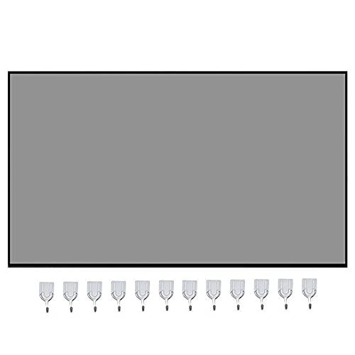 Lilangda Schermo di Proiezione Schermo Portatile Pieghevole 4K HD 16:9 da 120 Pollici Portatile Antipiega Antiluce per Videoproiettori per Home Theater All'aperto (60-103 Pollici)