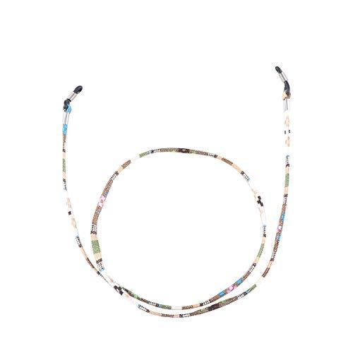 TENDYCOCO Brillenhalter Kette Universal Sonnenbrille Gurt Lesebrille Band (Gelb)