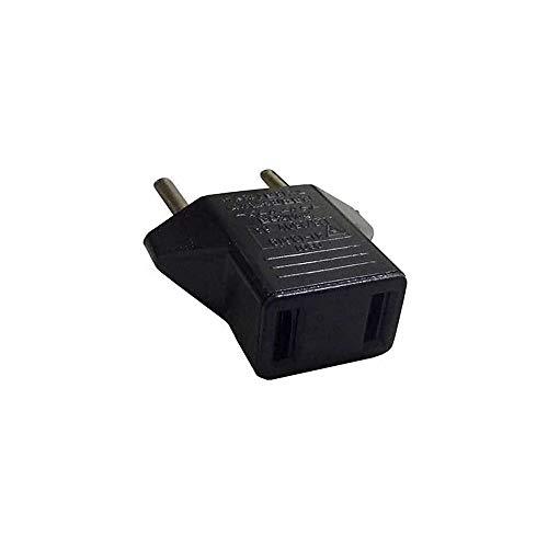 2 x Adaptacion para conector de pared de color negro macho-hembra