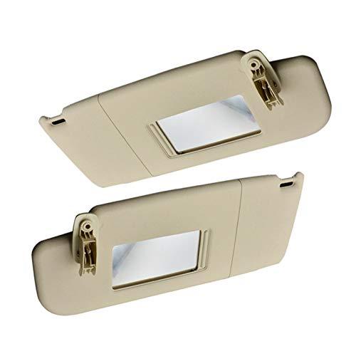 ZHANGJINYAN Beige Car Inner Sun Visor Shield Shade Tablero con Espejo Fit para Polo 2011-2018 Lado Izquierdo y Derecho (Color : Beige)
