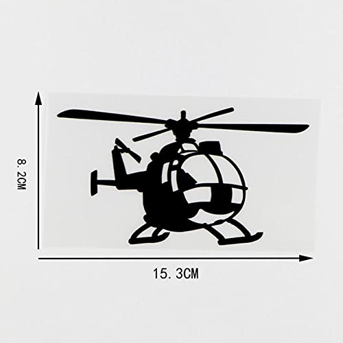 PAOPD Pegatinas de Coche Divertidas 15,3X8,2 CM piloto de helicóptero Volando para Ciclistas calcomanía para decoración de Ventana de carrocería de vehículo de Coche