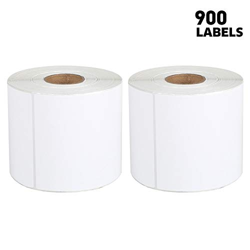 """[2 Rolls, 900 Labels] 4"""" x 6"""" Thermal Shipping Labels Compatible with Fangtek Zebra & soonmark Label Printer(not for dymo 4XL), 450 Labels/roll Direct Thermal Address & Shipping Labels"""