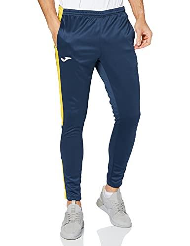 Joma 100761.309 Pantalons Homme, Bleu Marine/Jaune, M