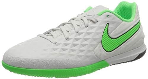 Nike React Legend 8 PRO IC, Scarpe da Calcio Unisex-Adulto, Platinum Tint/Rage Green-Black, 42.5 EU