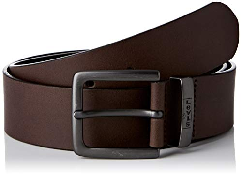 Levi's New Albert Metal Cintura, Brown, 70 Unisex-Adulto