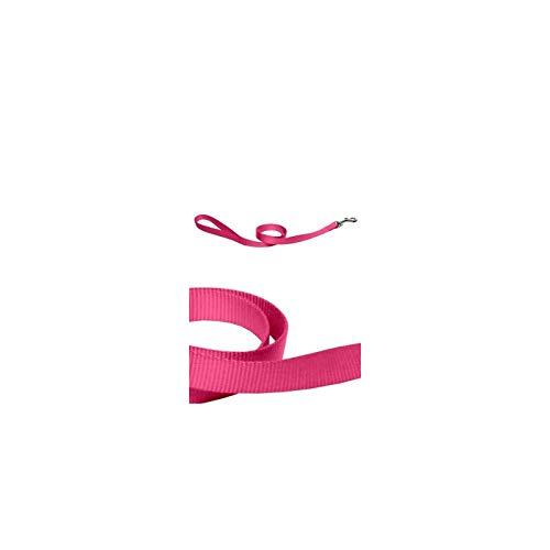 Vlinderdas hondenriem, nylon, roze, 20 mm x 120 cm