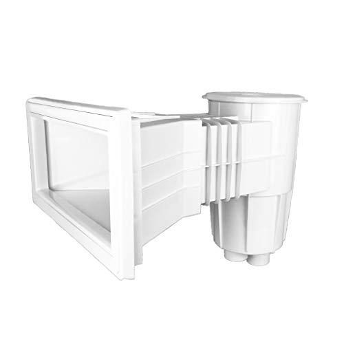 well2wellness Pool Skimmer Breitmaul Oberflächenskimmer 15l mit erweiterter Öffnung für Betonbecken