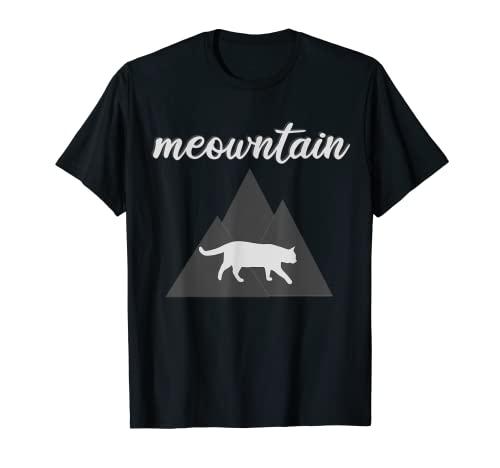 Meowntain Cat Meow Mountain Senderismo Caminar Mascota Mujer Camiseta