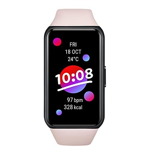 "HONOR Band 6 Smartwatch 1.47"" Touch Screen Orologio Multifunzionale Fitness Tracker con Contapassi Cardiofrequenzimetro 5ATM Impermeabile Smart Band per Uomo Donna Android iOS, Rosa - Versione Globale"