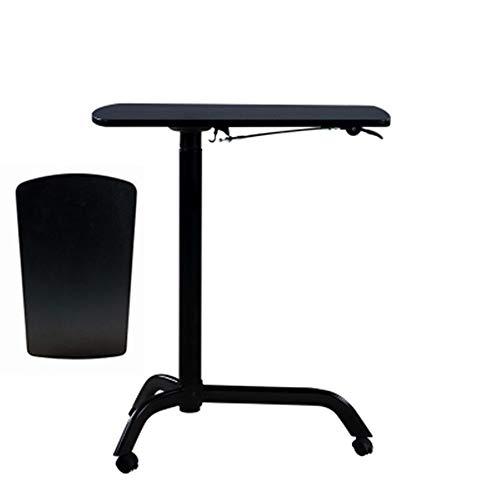 ZzheHou Rednerpult Rednerpult Podium Höhenverstellbarer Podium mit Rollen Sofa Corner Couchtisch (Farbe : Black B, Size