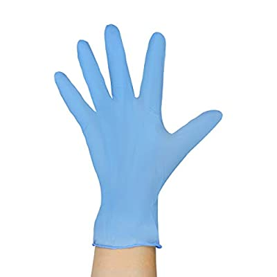Coyacool Disposable Nitrile Gloves, Powder Free, Food Grade Gloves, Latex Free, 100 Pc. Dispenser Pack, Large, Blue