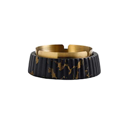 Material de mármol de Acero Inoxidable para Cigarrillos, geométrico, Tablero de Mesa Hermosa artesanía para Patio/Exterior/de Interior/de Interior (Color: Patrón de Oro Blanco, Tamaño: Alto) YXF