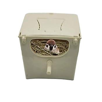 GWHW Boîte À Oiseaux Nids De Reproduction Et Incubateurs, Nids d'oiseaux Et Nids De Poulets, Mangeoires pour Perroquets, À L'intérieur Et À L'extérieur