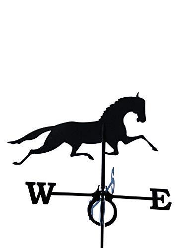SvenskaV Wetterfahne Pferd groß in schwarz