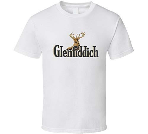 ABADI Glenfiddich - Camiseta de licor y whisky, cerveza ginebra, color blanco