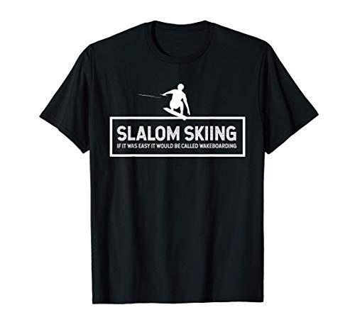 Slalom Slalom Sci ispirato Wakeboard Related Wake Design Maglietta