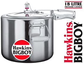 Hawkins Bigboy Aluminum 18 Litre Pressure Cooker with Separators and Grid to Cook Different Foods At the Same Time