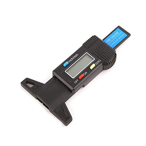 Profiltiefenmesser Digital, Tragbare 0-25,4 Mm Reifentiefenmesser Digital Profiltiefe MessgeräT Reifen Profiltiefe Messen Mit LCD-Anzeige,Schwarz