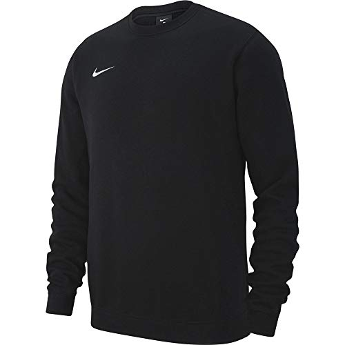 Nike Herren M CRW FLC TM CLUB19 Sweatshirt, Black/(White), 3XL