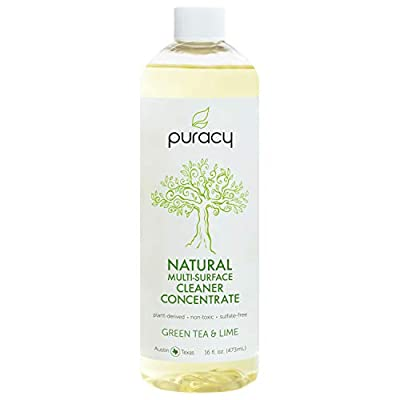 Puracy Natural All Purpose Cleaner, Streak-Free Household Multi-Surface Spray, Green Tea & Lime, 25 Ounce (2-Pack)