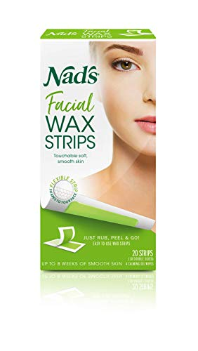 Nad's Facial Wax Strips - Hypoallergenic All Skin Types - Facial Hair...