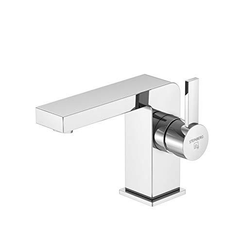 Steinberg Serie 120 Waschtischarmatur Ausladung 120 mm, Höhe 105 mm, mit Ablaufgarnitur