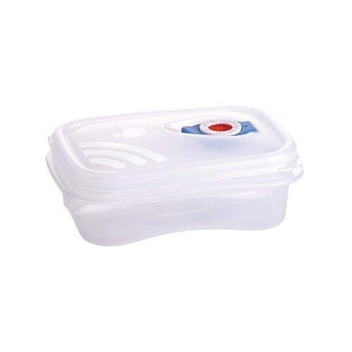 Frischhaltebox (TRANSPARENT) 0,5 Liter mikrowellengeeignet mit Frigo-Test Vakuumventil