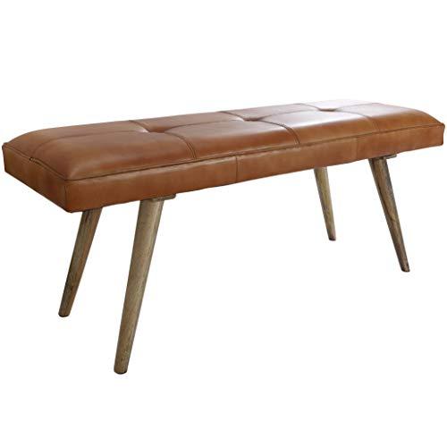 Wohnling Salim Sitzbank, Massivholz, Braun, 117x51x38 cm