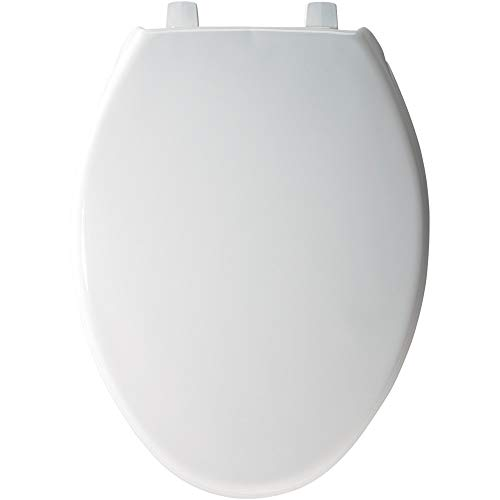 BEMIS 7800TDG 000 Commercial Heavy Duty Closed Front Toilet Seat with Cover that will Never Loosen & Reduce Call-backs, Plastic, White